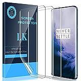 LK [3 Stück Schutzfolie für OnePlus 7 Pro (6.7 Zoll), OnePlus 7 Pro Folie [Fingerabdruck-ID unterstützen] [Blasenfreie] Klar HD Weich TPU F