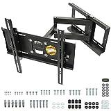 RICOO TV Wandhalterung Schwenkbar Neigbar, (R23-S) Universale TV-Halterung für 31-65 Zoll (bis zu 95-Kg, Max-VESA 400x400 mm) Flach Curved-Bildschirm Flachbild-F