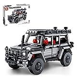 Amitas Technik Auto Geländewagen Bauset mit Motor & Fernbedienung, SUV Reisendes Auto Kompatibel mit Lego Technic - 1852 Teile - Statische V
