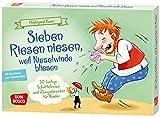 Sieben Riesen niesen, weil Nieselwinde bliesen: 30 lustige Schüttelreime und Zungenbrecher für Kinder. Sprachförderung mit Spaß für Kita & Schule. ... Ideen für Kindergruppen auf DIN-A5-Karten)