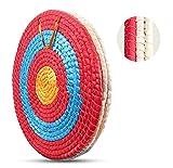 Deweey Zielscheibe für Bogenschießen 50x50cm traditionelle handgemachte Feste Strohzielscheibe für Outdoor-Prax