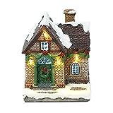 Gyj&mmm Weihnachtshaus mit Beleuchtung,LED Weihnachtshäuser,Weihnachtsdekorationen,Winterlandschaft Deko Desktop Ornament Nachttischlampe Weihnachtsdek