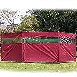 koncy Camping Windschutz Strand Zelt Garten Zaun Sichtschutz 440x130cm für Picknick, Grill, Lagerfeuer (Color : Red)