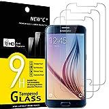 NEW'C 3 Stück, Schutzfolie Panzerglas für Samsung Galaxy S6, Frei von Kratzern, 9H Härte, HD Displayschutzfolie, 0.33mm Ultra-klar, Ultrabeständig