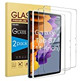 SPARIN 2 Stück Schutzfolie kompatibel mit Samsung Galaxy Tab S7 (11 Zoll, 2020 Modell), 9H Härte, Anti-Kratzer, Display