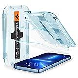 Spigen Glas.tR EZ Fit Schutzfolie kompatibel mit iPhone 13 Pro Max, 2 Stück, Kratzfest, 9H Härte F
