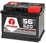 T TOKOHAMA JAPAN QUALITY Autobatterie 56Ah 520A +30% mehr Leistung Starterbatterie ersetzt 50Ah 54Ah 55Ah 60