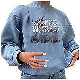 Oberteile Damen Shirt Damen Rot Pullover Damen Rundhals Sports Shirt Langarmshirt Cut Out Windstopper Jacke Damen Crop Top Damen Dirndlbluse Spitze(Blue,M)