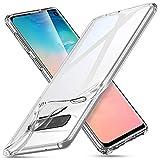 ESR Klar Silikon Entwickelt für Samsung Galaxy S10 Hülle - Dünne klare weiche TPU Schutzhülle - Flexible Handyhülle mit Mikrodot-Muster und Display-Kameraschutz für Galaxy S10