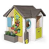 Smoby 810405 - Gartenhaus - Spielhaus für drinnen und draußen, mit kleiner Eingangstür und Fenstern, viel Zubehör zum Gärtnern, für Jungen und Mädchen ab 2 J