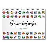Saisonkalender für Obst und Gemüse EcoYou - A4 - Immerwährender Wandkalender - Küchenkalender zum Aufhängen - Made in Germany