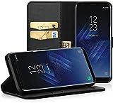EasyAcc Hülle Case für Samsung Galaxy S8, Lederhülle PU Leder Flip Tasche Klappbar Schutzhülle Handyhülle mit [Ständer Funktion] Card Holder Kunstleder Cover Kompatibel mit Samsung Galaxy S8