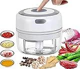 küchenmixer zerkleinerer - Elektrischer Mini - Lebensmittelzerkleinerer Glas Klein - 100 ml Küchenmaschine und Mixer, tragbarer Gemüse-, Obst-, Fleisch-, Knoblauch-, Zwiebel- und Ingwerzerk