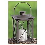 Laterne, Windlicht Farol mit Henkel in antikbraun aus Eisen, 1 Stück, Höhe ca. 20