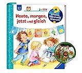 Buchspielbox Wieso? Weshalb? Warum? junior: Heute, Morgen, jetzt und gleich (Band 56) + Kinder Tier-Sticker | Klappenbuch ab 2 J