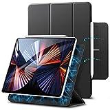 ESR Hülle kompatibel mit iPad Pro 12.9 2021/2020 (5/4.Generation), praktischer Magnetverschluss [Unterstützt Apple Pencil Koppeln & Laden] Auto Schlaf-/Weckfunktion - Schw