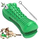 Kauspielzeug für Hunde, Zahnbürstenspielzeug, aggressives Kauen, Milchgeschmack, Naturkautschuk, Zahnpflege, Hundezahnreinigung, Krokodil, quietschend, Zahnreinigungsstab