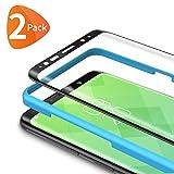 Bewahly Panzerglas Schutzfolie für Samsung Galaxy S8 [2 Stück], 3D Curved Full Cover Panzerglasfolie Ultra Dünn HD Displayschutzfolie 9H Härte Folie mit Installation Werkzeug für Samsung S8 - Schw