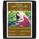 KRONLY Unkrautvlies 1x5m - Gartenvlies als Gartenfolie, Mulchfolie und Unkrautfolie 50g/m², wasserdurchlässig atmungsaktiv Garden F