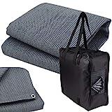 Vorzeltteppich + 6 Heringe + Tasche - 200x200 GRAU-BLAU - Zeltteppich Zeltunterlage Outdoor Camping Vorzelt Campingteppich Vorzeltb