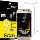 NEW'C 2 Stück, Schutzfolie Panzerglas für Samsung Galaxy J3 2017, Frei von Kratzern, 9H Härte, HD Displayschutzfolie, 0.33mm Ultra-klar, Ultrabeständig