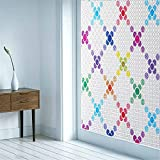 FensterfolieLingge Statische Fensterfolien Anti-UV Folie Für Zuhause Badzimmer oder Büro,Matt,mit sehr hohem Sichtschutz Farbe(60x300cm)