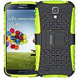 ykooe Galaxy S4 Hülle, (TPU Series) Samsung S4 Dual Layer Hybrid Handyhülle Drop Resistance Handys Schutz Hülle für Samsung Galaxy S4 (Nicht mit S4 Mini zu verwenden) Grü