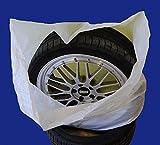 SW-Trade Germany Reifentaschen Set 4-teilig passend für alle Reifentypen bis 22 Zoll Reifentüten Reifensäcke Reifen Schutz Reifensack Reifenschutzhülle biologisch Abbaub