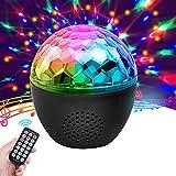 Discokugel, NINECY Partylicht 16 Farbe Musikgesteuert, Kabelloses Discolicht mit bluetooth Lautsprecher/Fernbedienung/Nachtlicht Modus für Kinder, Weihnachten, Disco Party Dek