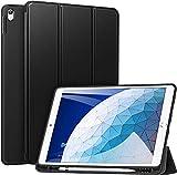ZtotopCase Hülle für iPad Air 10.5 2019(3. Generation) und iPad Pro 10,5 2017,Ultradünne Soft TPU Rückseite Abdeckung mit eingebautem iPad Stifthalter, mit Auto Schlaf-/Aufwachfunktion, Schw