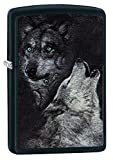 Zippo Wolf Benzinfeuerzeug, Messing, Black Matte, 1 x 6 x 6