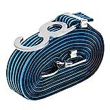 Heavy Duty Seile Gurte, Einstellbarer Gepäck Elasticated Gummi Bungee Straps Cords mit Hak