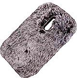 S5 Mini-Schutzhülle, flauschig, Wolle, süß, Winter, warm, weich, dünn, DANGE künstlicher Lichtschutz, dünne Hülle für Samsung S5 Mini, Schw