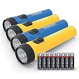 EVEREADY LED-Taschenlampe, extra-lange Laufzeit LED-Licht, Allzweck- & Notfall-Handlampe, 4 Stück