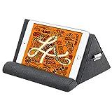 MoKo Tablet Kissenständer, Halter für bis 11' Tablet aus Leinen & Baumwolle, Halterung Kompatibel mit iPad Air 4 10.9'/Air 3,iPad 10.2 2020,iPad Pro 11/10.5/9.7,Mini 5,Galaxy Tab S6/S7, Space G