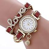 Frauen Watch Analoge Quarzuhr Mit Strass Legierung Armband Kristall Liebe Lady Armbanduhr Mit Eingebauter Batterie R