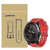 LvBu Armband Kompatibel Für Amazfit Stratos 3, Sport Silikon Classic Ersatz Uhrenarmband Für Amazfit Stratos 3 Smartwatch (Rot)