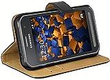 mumbi Echt Leder Bookstyle Case kompatibel mit Samsung Galaxy Xcover 3 Hülle Leder Tasche Case Wallet, schw