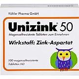 Unizink 50 mg magensaftresistente Tabletten, 100 St. Tab