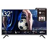 Hisense 32AE5500F 80 cm (32 Zoll) Fernseher (HD, Triple Tuner DVB-C/ S/ S2/ T/ T2, Smart-TV, Frameless, Prime Video, Netflix, YouTube, DAZN),schw