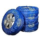 HEYNER alca® Reifentaschen-Set 4teilig Reifenschutzhülle mit Tragegriff robust wasserabweisen waschb