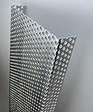 Abdeckprofil Alu Lochblech, 2000mm U-Profil Dekor außen 20x100x20 mm Schenkelinnenmaß aus Alu Lochblech Rv 5-8 natur, 1,5mm stark U Profil RV5/8,Lochblech U-Winkel,