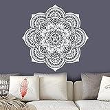 Mandala Wanddekoration Wohnzimmer Schlafzimmer Aufkleber Yoga Studio Dekor Schlafzimmer Dekor Marokkanisches Muster Blumenaufkleber A3 57x57