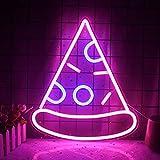 Pizza Leuchtreklamen Led Neon Wandschild Pizza Usb Hängendes Neonlicht Acryl Dekoratives Schild Für Schlafzimmer Kinderzimmer Küche Shop Restaurant Geburtstag Weihnachtsgeschenk (Rosa Leuchtreklame)