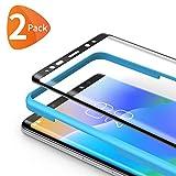 Bewahly Panzerglas Schutzfolie für Samsung Galaxy Note 8 [2 Stück], 3D Curved Full Cover Panzerglasfolie HD Displayschutzfolie 9H Härte Folie mit Installation Werkzeug für Samsung Note 8 - Schw