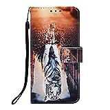 Hülle Case für Samsung Galaxy A42 5G, Premium Leder Flip Sonnenblume Handyhülle Schutzhülle Tasche mit [Kartenfach] [Standfunktion] [Magnetverschluss] Brieftasche Handy hülle für Samsung Galaxy A42 5G
