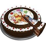 DECOCINO essbarer Zucker-Tortenaufleger WINNIE PUUH   Winnie the Pooh – Kuchendeko   Pooh-Tortendeko – Kindergeburtstag & Geburtstagsdeko mit Ferkel, Tigger & I