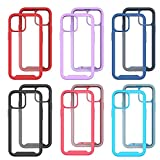 Stoßfeste Handyhülle Kompatibel mit iPhone 13 Case,6.1 inch,TPU Farbe Rundumschutz,Abnehmbare Anti-Drop-Handyhülle Bumper-Case,Flexible Kratzfest Schutzhülle Hülle mit MagS