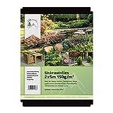 TTL Garden Unkrautvlies 150g/m2 (2m x 5m = 10m2) speziell gegen Unkraut - Markenqualität aus Bayern - Unkrautvlies, Unkrautfolie, wasserdurchlässig, UV stabil & reiß