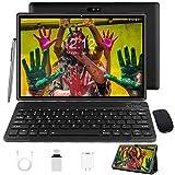 Tablet 10 Zoll Android 10 Tablet PC Mit Tastatur 4G LTE SIM, 3 GB RAM + 32 GB ROM, Quad-Core-Prozessor, GMS-Zertifizierung, 8000 mAh, 1080p Full HD IPS-Display, WLAN/Bluetooth/GPS Windows Tab